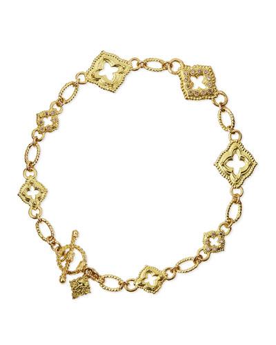 18k Sculpted Scroll Bracelet w/Diamonds