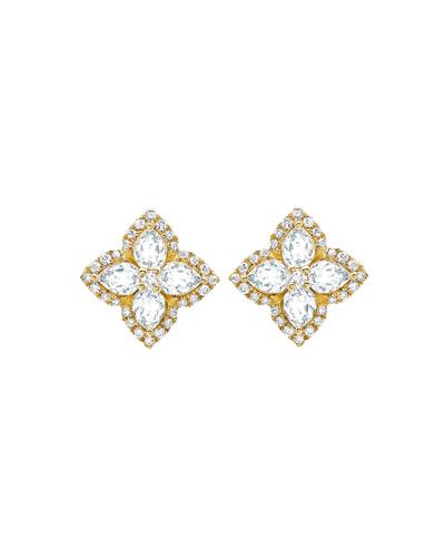 Aurora White Topaz and Diamond Earrings