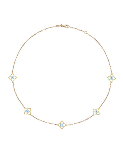 Aurora Blue Topaz & Diamond Necklace