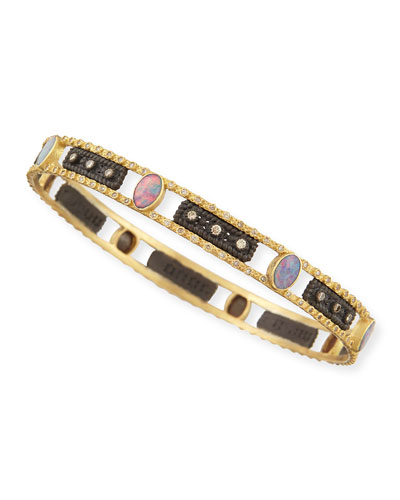 Old World Opal & Diamond Bangle