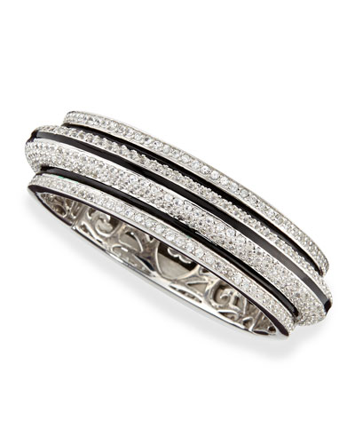Pave White Zircon Bangle Bracelet