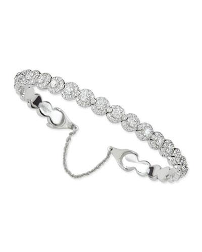 Joy Diamond Halo Bracelet with Chain