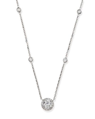 Joy Round Diamond Pendant Necklace