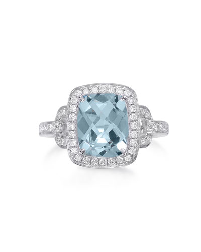 Roma Aquamarine & Diamond Ring