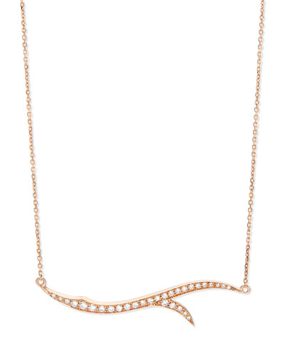 18k Rose Gold & Diamond Thorn Pendant Necklace