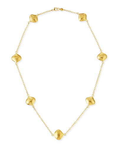 Clove 24k Gold Short Station Necklace