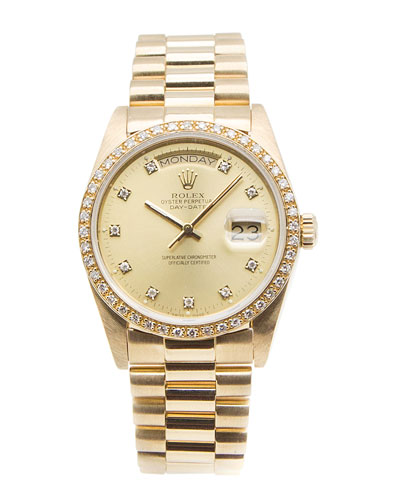 Classic Rolex Day-Date President 18k Gold Watch