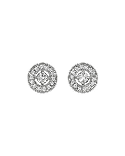 Classic Collection Round Pave Diamond Stud Earrings