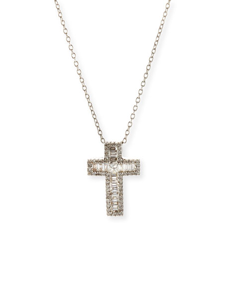 Bessa 18k White Gold Long Diamond Necklace X9vVRC