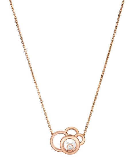 Chopard Happy Dreams Necklace with Diamonds in 18K White Gold UA5De4Glv2