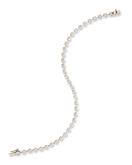 Memoire Diamond Line Bracelet in 18K White Gold LO1JrrX