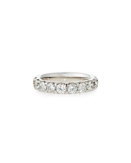Memoire Diamond Eternity Band in 18K White Gold, 3.04 tdcw