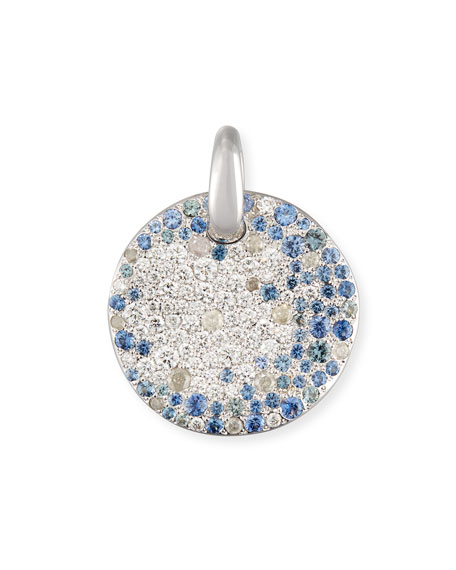 cut diamond pendant pendants sapphire cushion saphire