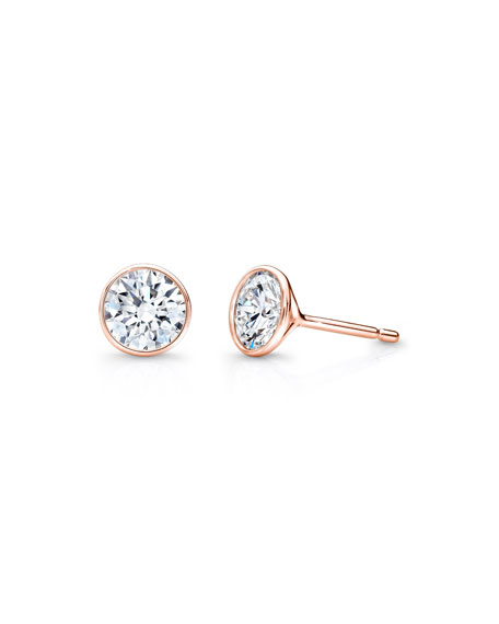 bezel gold union stud w earrings diamond white set