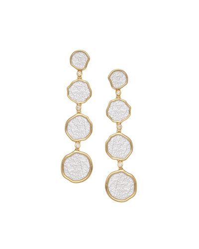 Serenity Graduated Drop Earrings with Diamonds