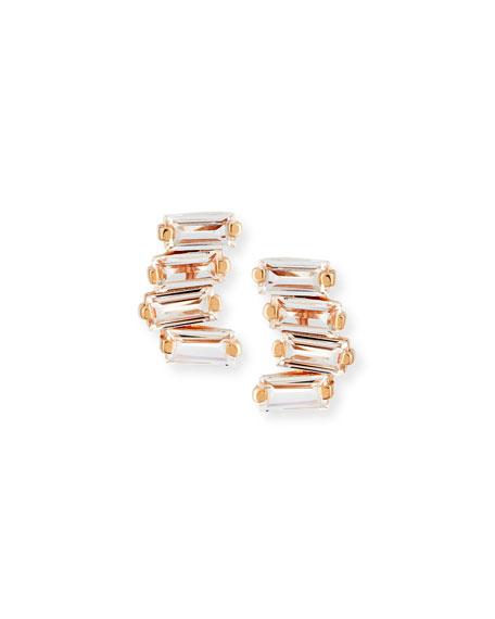 Suzanne Kalan 14k White Topaz & Diamond Baguette Mini Fireworks Stud Earrings vhSwgoa0