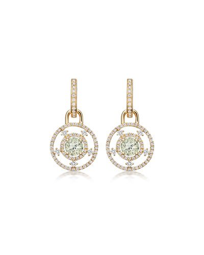 Apollo Green Amethyst & Diamond Drop Earrings