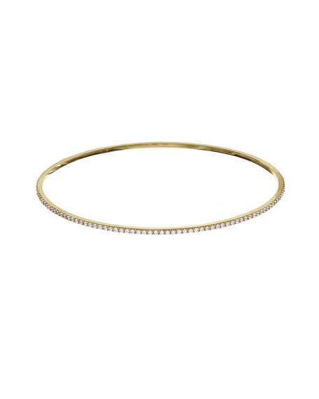Lana Jewelry Flawless All-Around Diamond Bangle in 14K White Gold 3cAAd