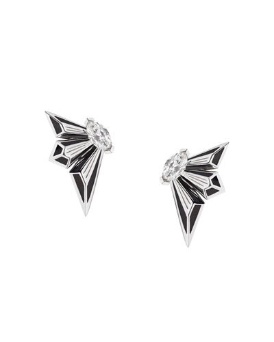 Fly by Night 18k Diamond Stud Earrings