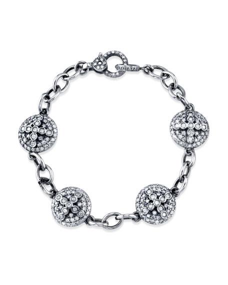 Sheryl Lowe Diamond Dome Cross Eternity Bracelet KwFZZMH3