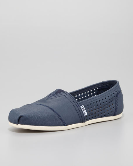 647dab08b0a TOMS Perforated Leather Slip-On
