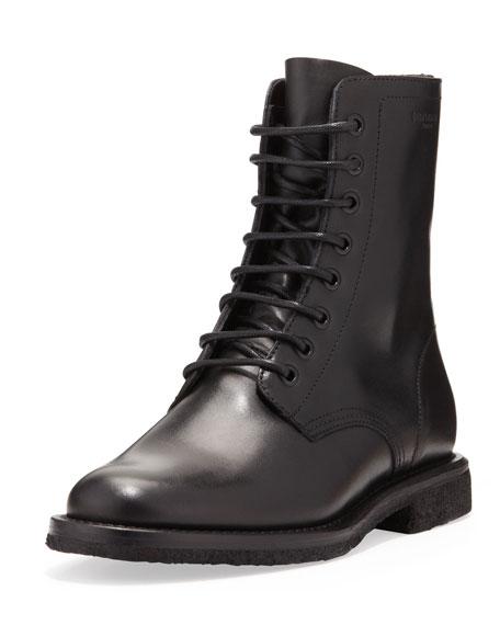 2767d64e1c3 Saint Laurent Flat Lace-Up Ranger Boot, Black