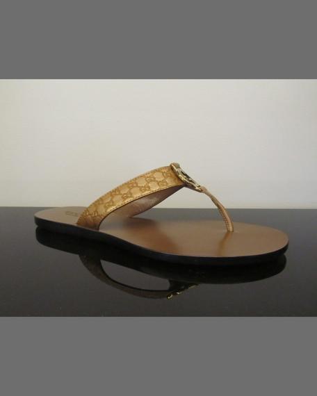 86944003474 Gucci GG Metallic Thong Sandal