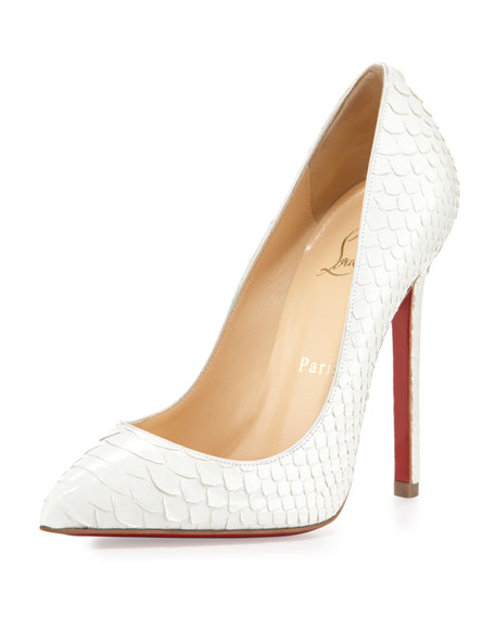 d89f0fa456aa Christian Louboutin Pigalle Python Point-Toe Red Sole Pump