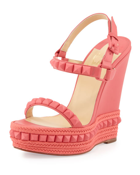 Christian Louboutin Cataclou Studded Wedge Sandal b411f84d4