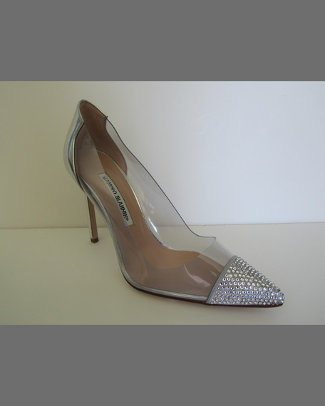 Manolo Blahnik Leather Cap-Toe Pumps official site cheap online free shipping really vmDnKhfIb