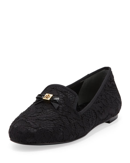 f6e0165218f1 Tory Burch Chandra Lace Bow Loafer