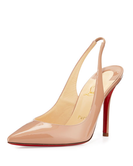 los angeles b8ab9 43ee0 Apostrophy Red-Sole Slingback Pump Nude