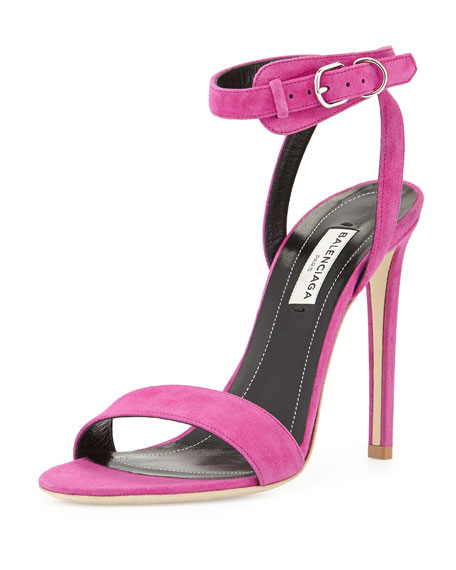 sale the cheapest Balenciaga Suede Ankle Strap Sandals buy cheap buy sale 2014 newest shop offer for sale mhnDVdLTFk