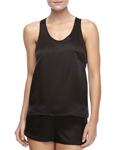 Dolce Sleeveless Silk Tank & Dolce Silk Shorts
