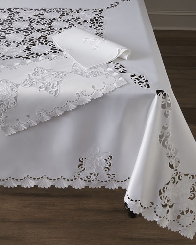 Audra Cutwork Table Linens