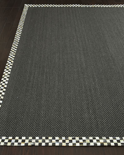 Courtly Check Black Sisal Rug