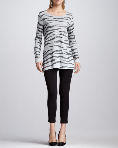 Animal Sequined Tunic & Cropped Jersey Leggings