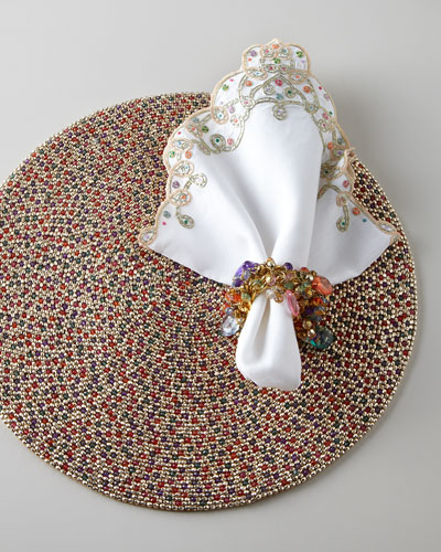 Beaded Placemat & Napkins