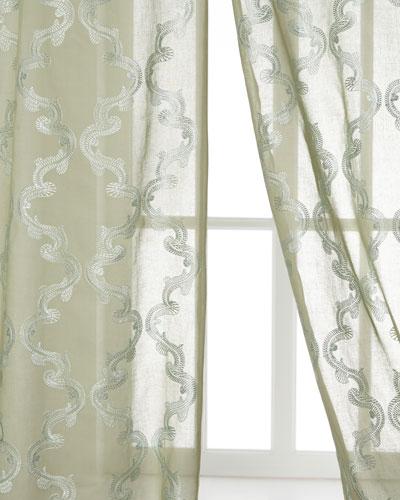 Creative Threads Kantha Joyous Sheer Curtains