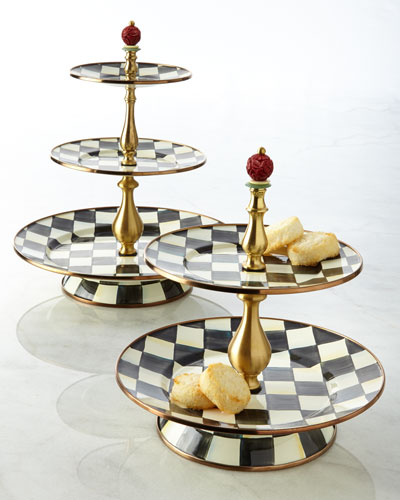 Courtly Check Tier Sweet Stands