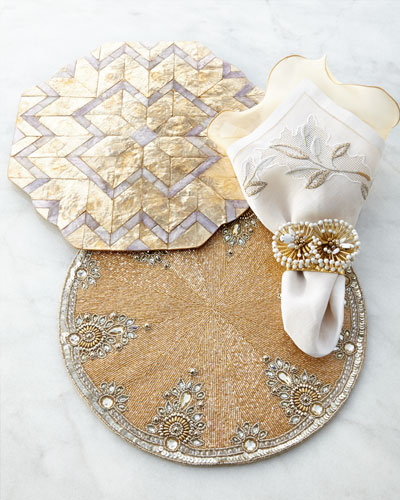 Gold & Gray Placemats & Napkins
