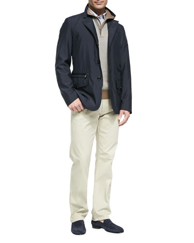 Three-Quarter Length Jacket, Quarter Zip Pullover, Multi-Stripe Button-Down ...