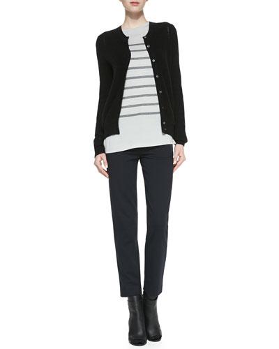 Button-Down Petite-Chevron Cardigan, Long-Sleeve Striped Top & ...