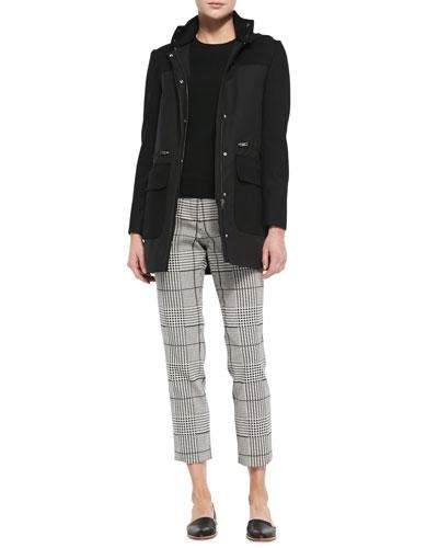 Alanso Cotton Makintosh Coat, Perfect Staple Cashmere Crewneck Sweater & ...