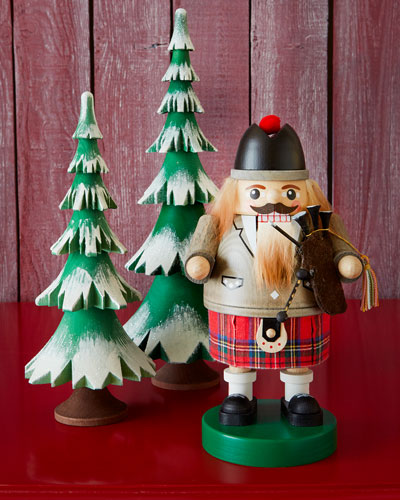 Scotsman Nutcracker & Frosted Trees