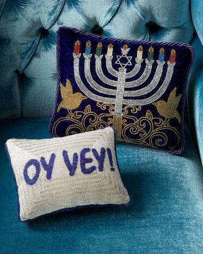 Sudha Pennathur Hanukkah Pillows