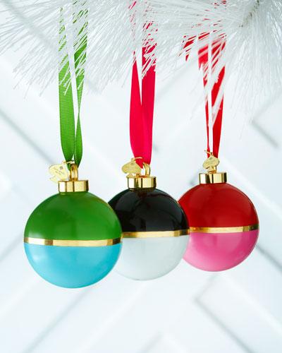 Colorblock Ball Christmas Ornaments