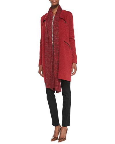 Permafrost Knit Zip-Pocket Jacket, Tonal Waves Knit Top, Perfect Ponte Slim ...