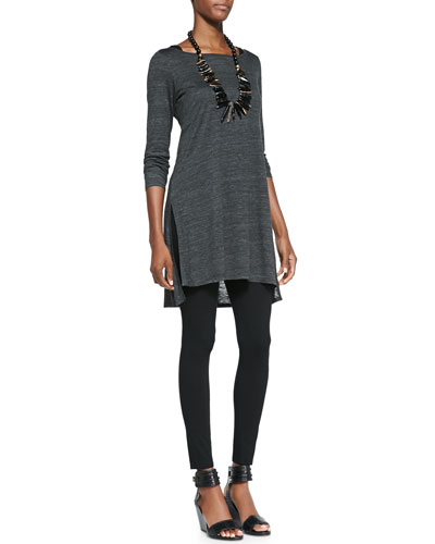 Melange Slub Long Tunic, Slim Tank & Viscose Jersey Leggings
