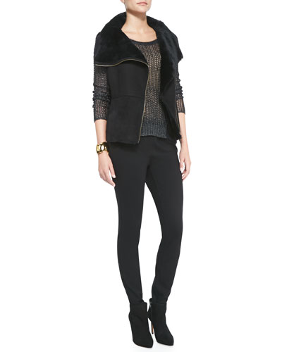 Fisher Project Shearling Fur Leather Vest, Fisher Project Textured Box Top ...